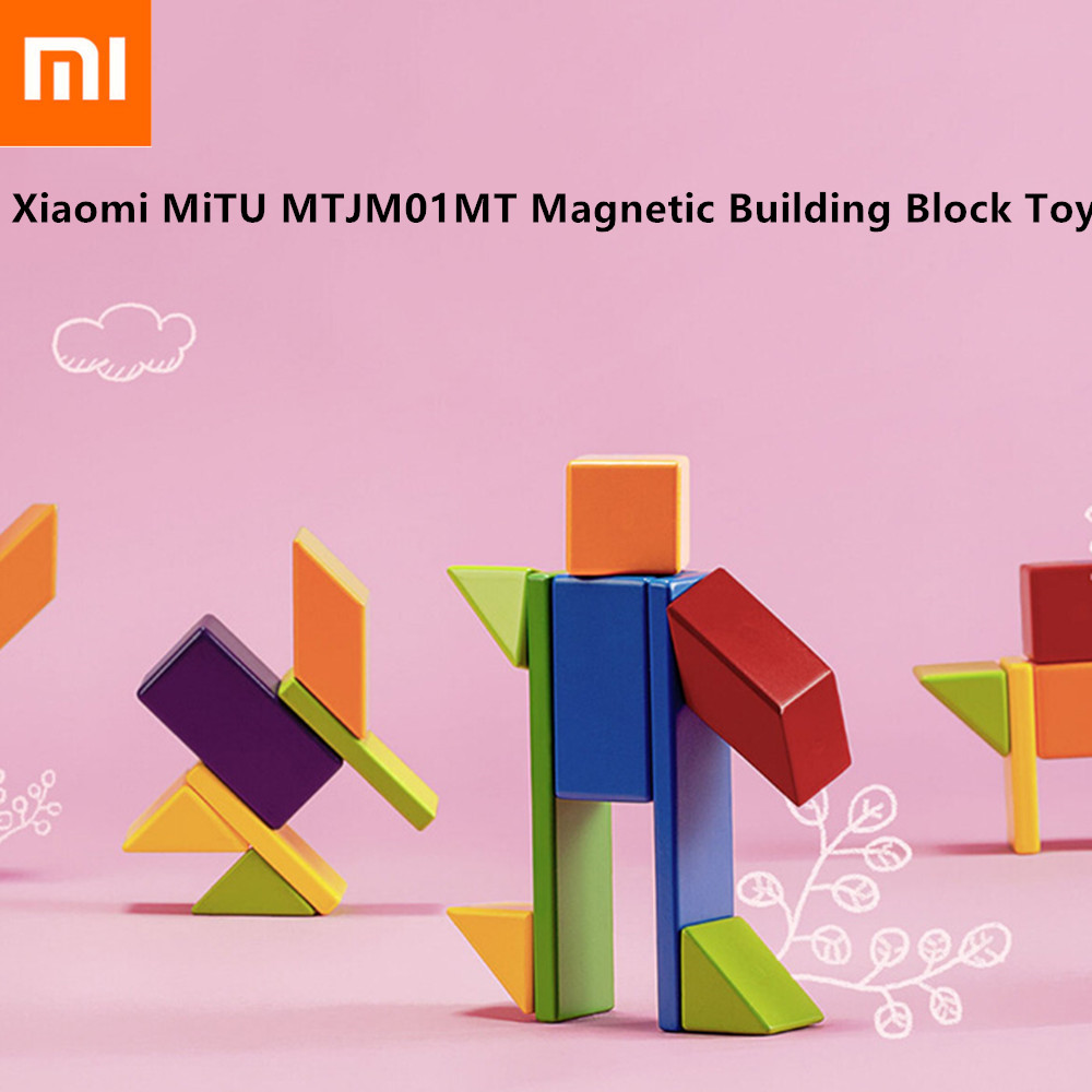 Xiaomi MiTU MTJM01MT Magnetic Building Magnetic Blocks Toy Natural High Quality Wood Blocks 20 Pcs Building Toys for Kids Gifts