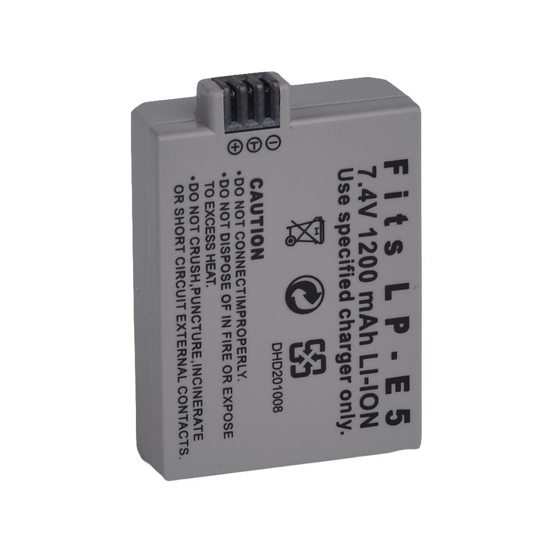 Accessories & Parts Consumer Electronics 2x1200mah Lp-e5 Battery+usb Charger For Canon 450d 500d 1000d Xs Rebel X Bg-e5