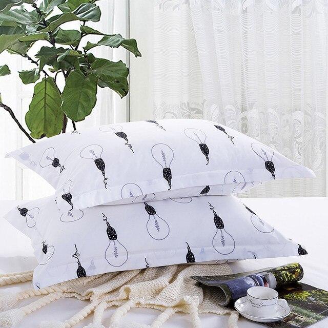 Наволочка для ткани белого цвета, 1 шт. наволочки с принтом, 48 см * 74 см, для детей, для взрослых, для спальни, XF340-26, 50