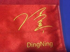 Image 3 - DHS 2018 חדש שולחן טניס מגבת (Ma ארוך/דינג נינג חתימה) 100% כותנה ספורט כושר פינג פונג מגבת