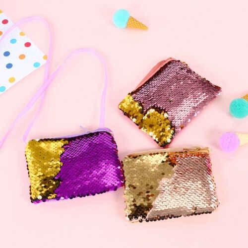 Вечерние милые модные стильные детские мини-сумочки с блестящими блестками Новые рюкзаки