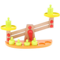 Wooden Balance Beam Weighing Scale Toy for Math Learning Kids Children Gift