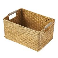 Binaural Sundries Storage Box Hand Woven Rattan Basket For Home Clothes Gentle Tones Versatile Home Style Quick Delivery