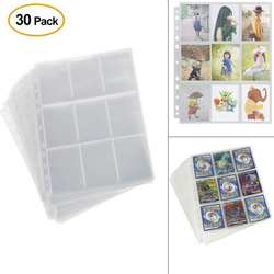 30 pack/set вставка сверху 9 карманов/страница прозрачный Настольная игра карты страница торговая карта протектор для волшебных карточек