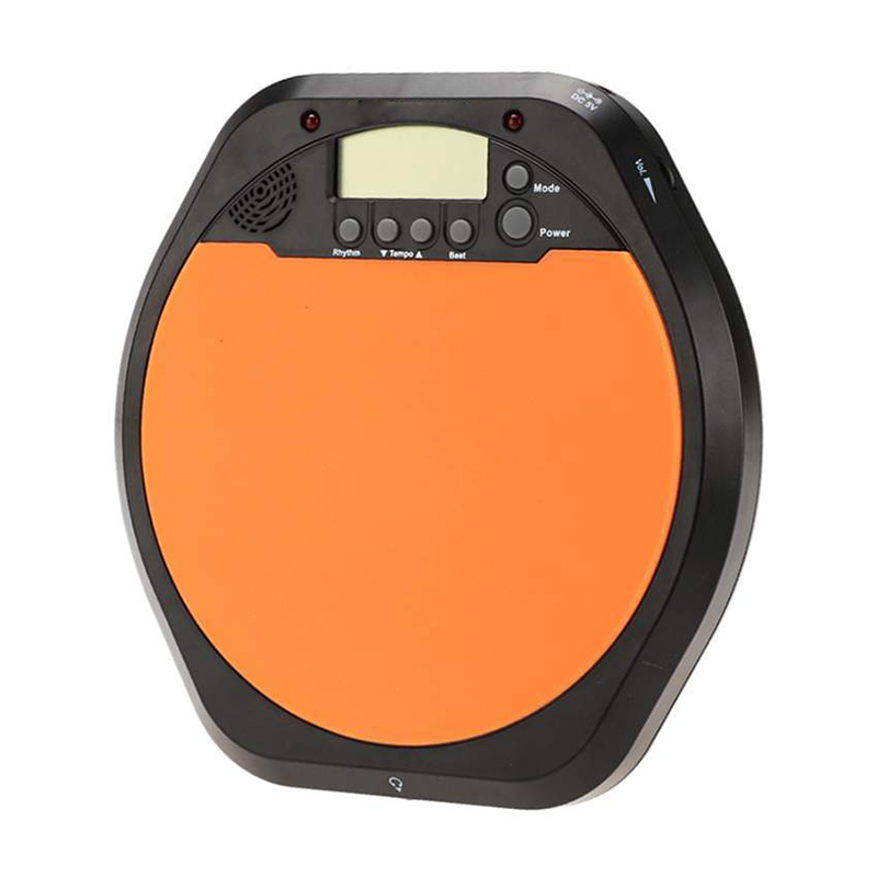 digital drummer training practice drum pad metronome with earphone batteries in drum from. Black Bedroom Furniture Sets. Home Design Ideas