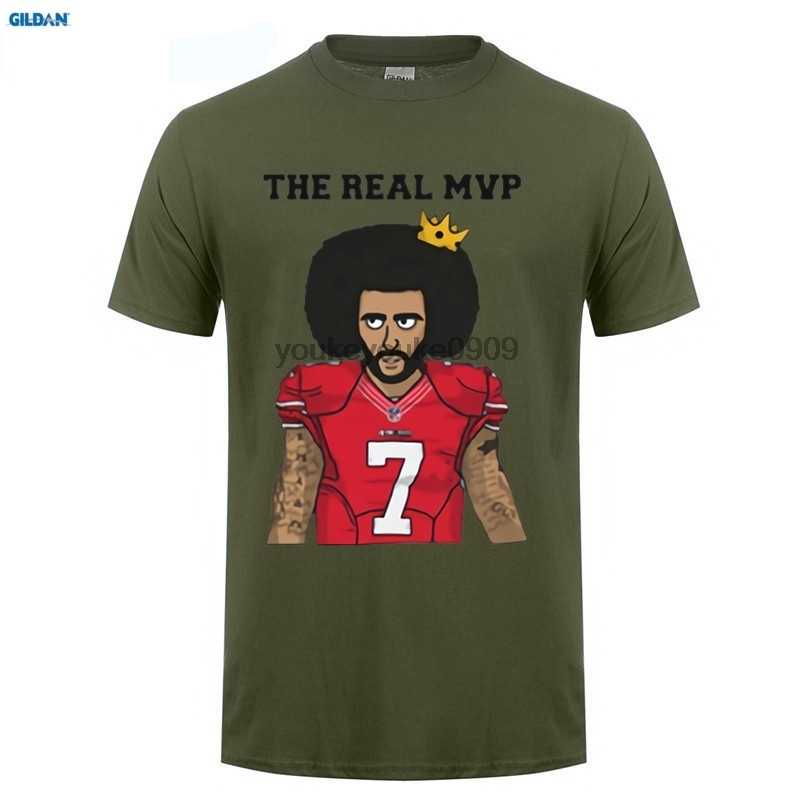 release date 52cf2 9896d GILDAN The Real MVP Colin Kaepernick funny t shirts Mens 7 Fashion T-shirts  for 49ers fans