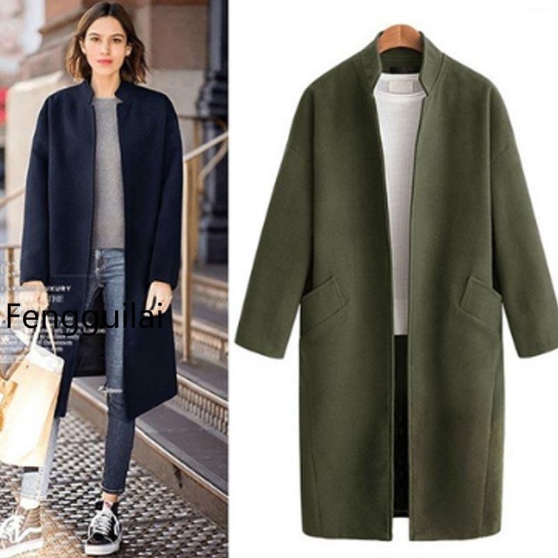 Fengguilai lana giacca lungo
