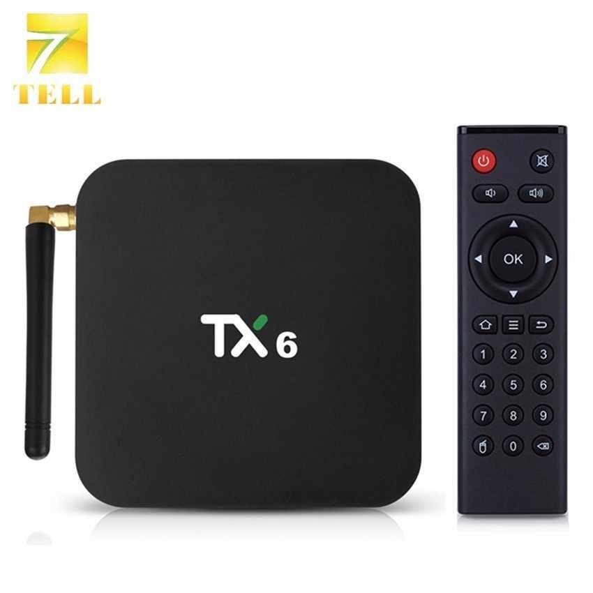 TX6 Android 9.0 Allwinner H6 Quad Core 4 GB 64 GB Thông Minh TV Hộp Wifi Kép Antenna Wifi BT4.2 HDR 4 K Tanix 4 GB 32 GB Android Set Top Box