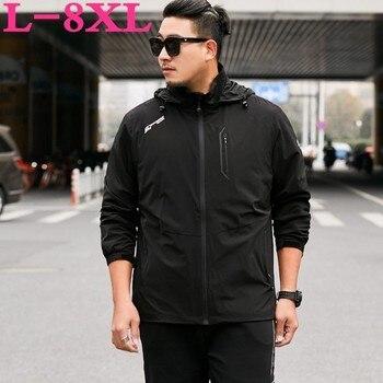 2019 New Plus Size 8xl 7xl Men Spring And Autumn Plus Business Jacket Loose Jacket Extra Large Size Jacket Men Youth Windbreaker