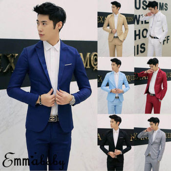 7 Colors Men Blazers Brand 2019 Korean Style Men's Blazers and Jacket Slim Fit Solid Casual Suits Jacket 1