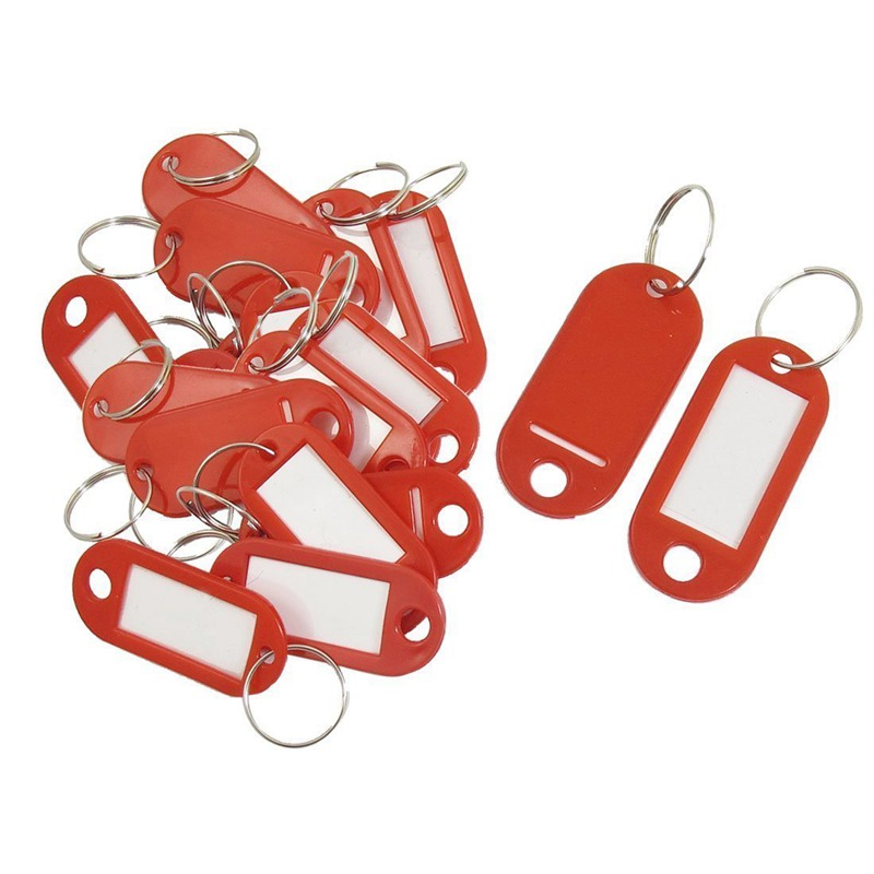 20 Pcs Assorted Key ID Label Tags Split Ring Keyring Keychain