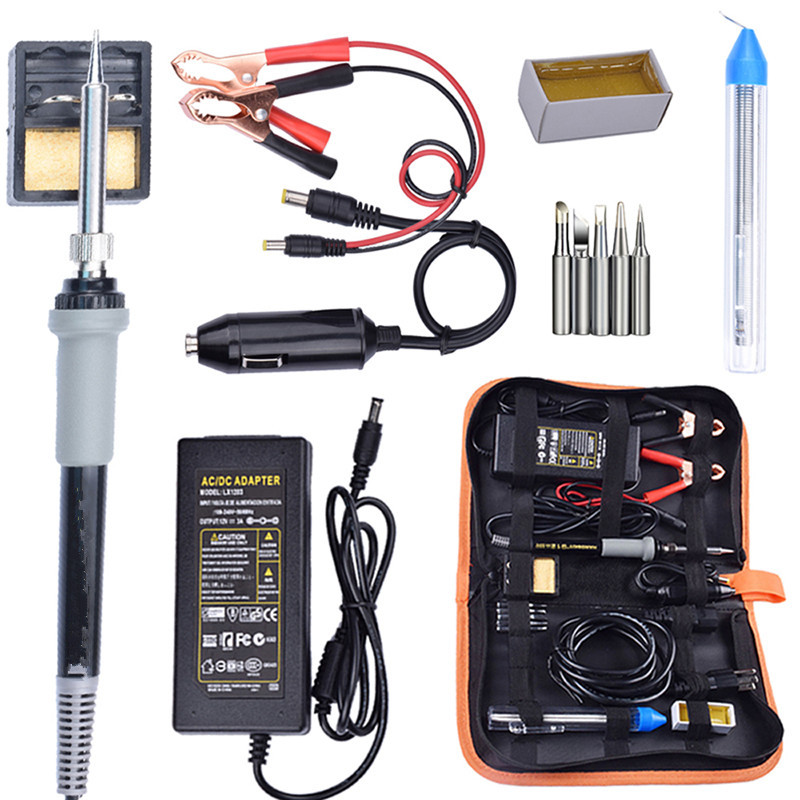 New DC 12V 35W Car Battery Low Voltage Portable Solder Iron Temperature Electric Soldering Head Clip Car Repair Battery Tool