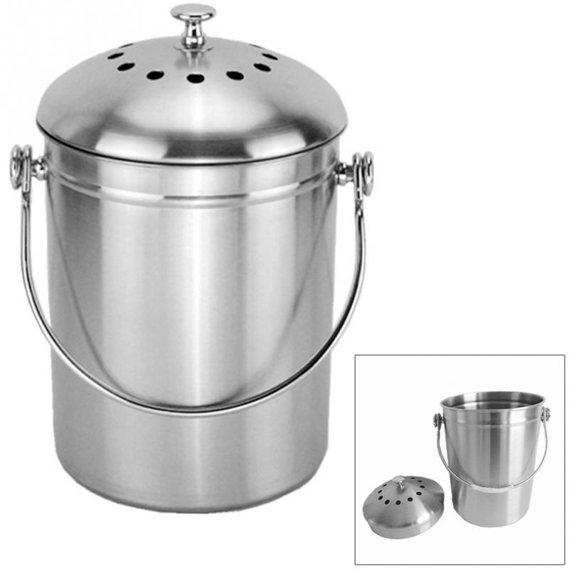 Stainless Steel Bucket Pail Dog Farm Water Milk Feeding Heavy Three Open Lid