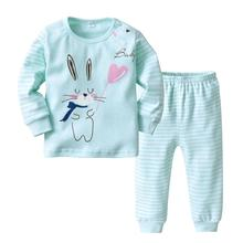 купить VTOM Baby Boys Girls Sets Baby Long-sleeved T-shirt Tops + Pants 2PCS Sets Baby Kids Home  Underwear Suit Baby Clothing  XN74 дешево