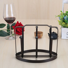 Japanese Style Iron Drain Cup Holder Multifunctional Glass Cup Shelf Household Coffee Mug Storage Rack (Black)(China)