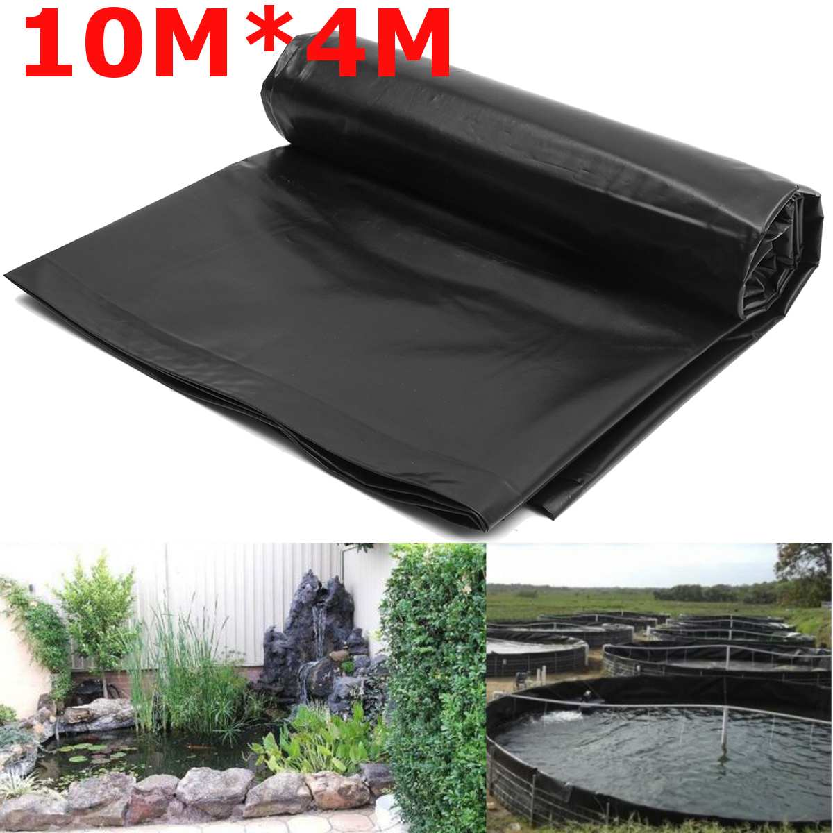 10x4m Fish Pond Liner Cloth Home Garden Pool Reinforced HDPE Heavy   Landscaping Pool Pond Waterproof Liner Cloth Black New