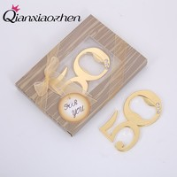 Qianxiaozhen 10pcs 50th Anniversary Gifts For Husband Bottle Opener Wedding Favors And Gifts Wedding Souvenirs Party Supplies