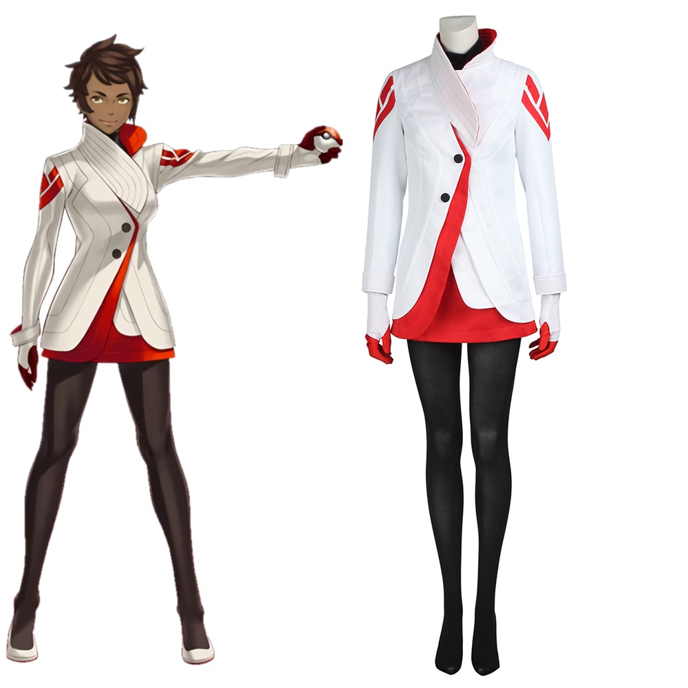 Pokemon Go Candela Valor team Cosplay Costume Halloween Outfit