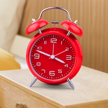 Creative Silent Scan Modern Alarm Clock Classic Metal Desk Retro Alarm Clocks Table Watch Quartz Luminova Despertador Reloj цена в Москве и Питере