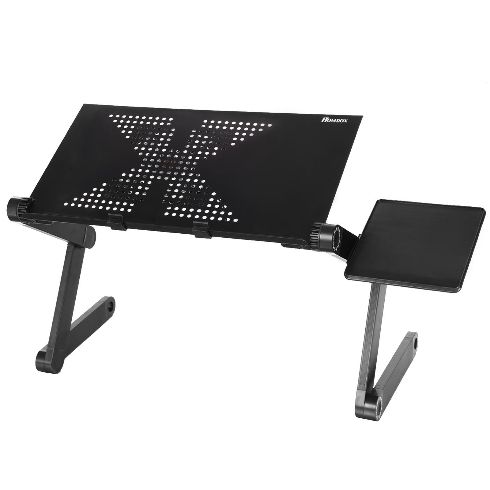 Table Clic Clac Table Table Pliable Bureau Meadow Tapis Ordinateur Portable Portable Réglable Noir Support