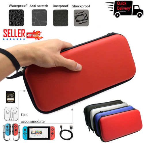 4 Colors Portable Nintendo Switch EVA Water-resistent Hard Protective Shell Case Carrying Bag Screen for NS Console Accessories