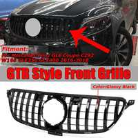 GTR GT R Grille Grill For Mercedes For Benz GLE For Coupe C292 W166 GLE350 GLE400 2016 2018 Chrome/Black Car Front Racing Grills