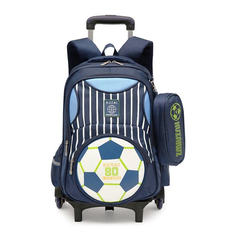 Ziranyu derniers sacs d'école pour enfants garçons filles sac d'école Trolley sac à dos pour enfants sacs d'école amovibles avec 2/6 roues