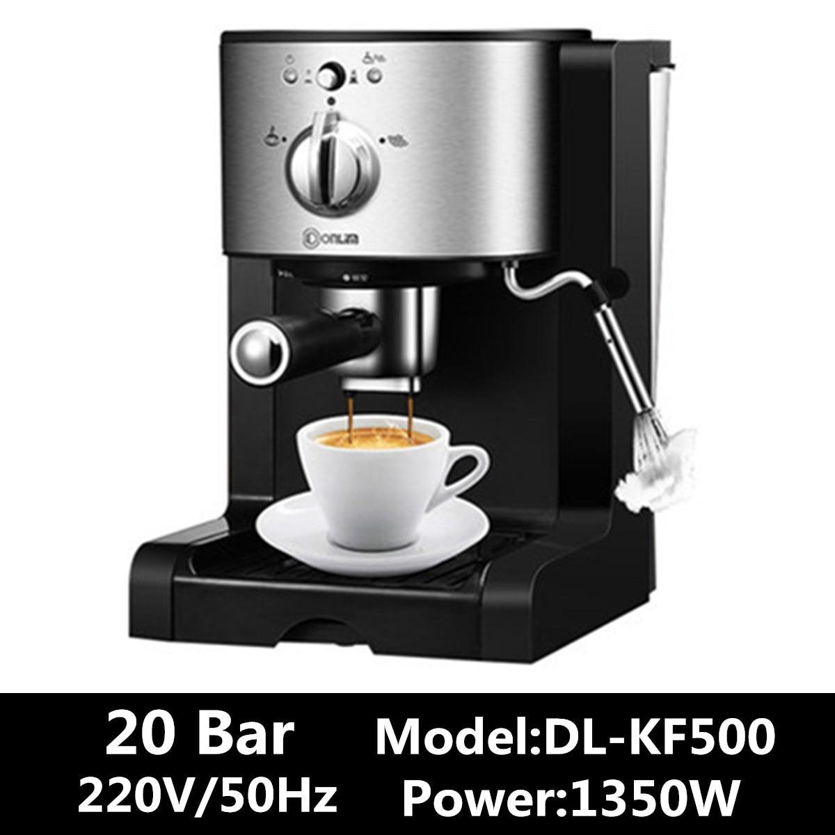 DL KF500 3In1 кофе машинка машины Кухня 1.5L полу автоматическая кофеварка для баристы, эспрессо машины молочный стимер