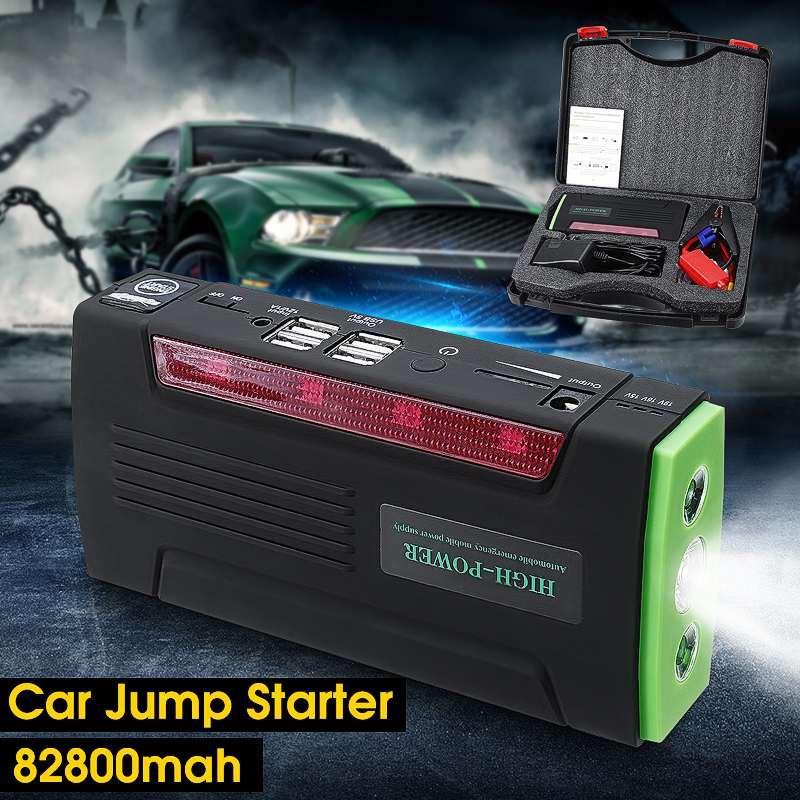 KROAK Multi Function Portable 12V Car Jump Starter 600APeak 82800mAh font b Battery b font Emergency