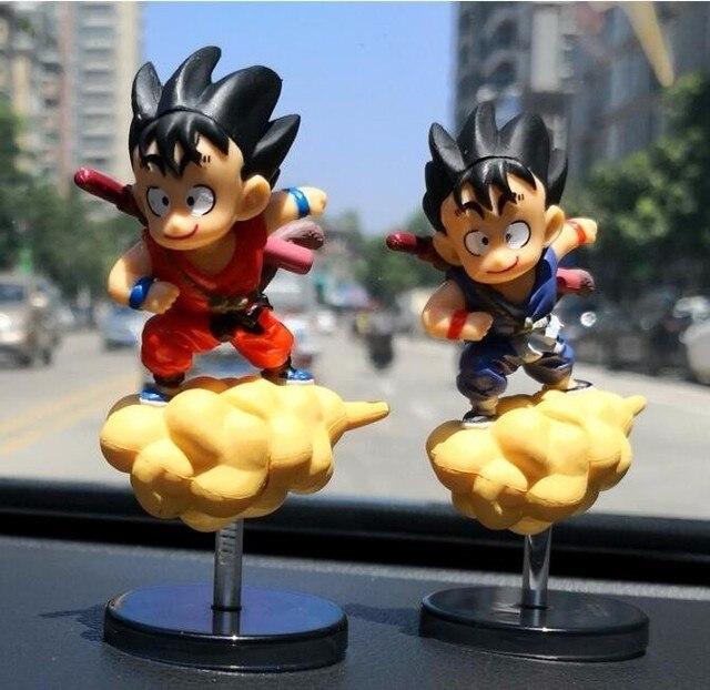 Hot 12 centímetros Dragon Ball Z Son Goku Kuririn Suporte Do Telefone Do Carro Bobble Head Pvc Action Figure Toy For Kids modelo Decoração Boneca Presentes