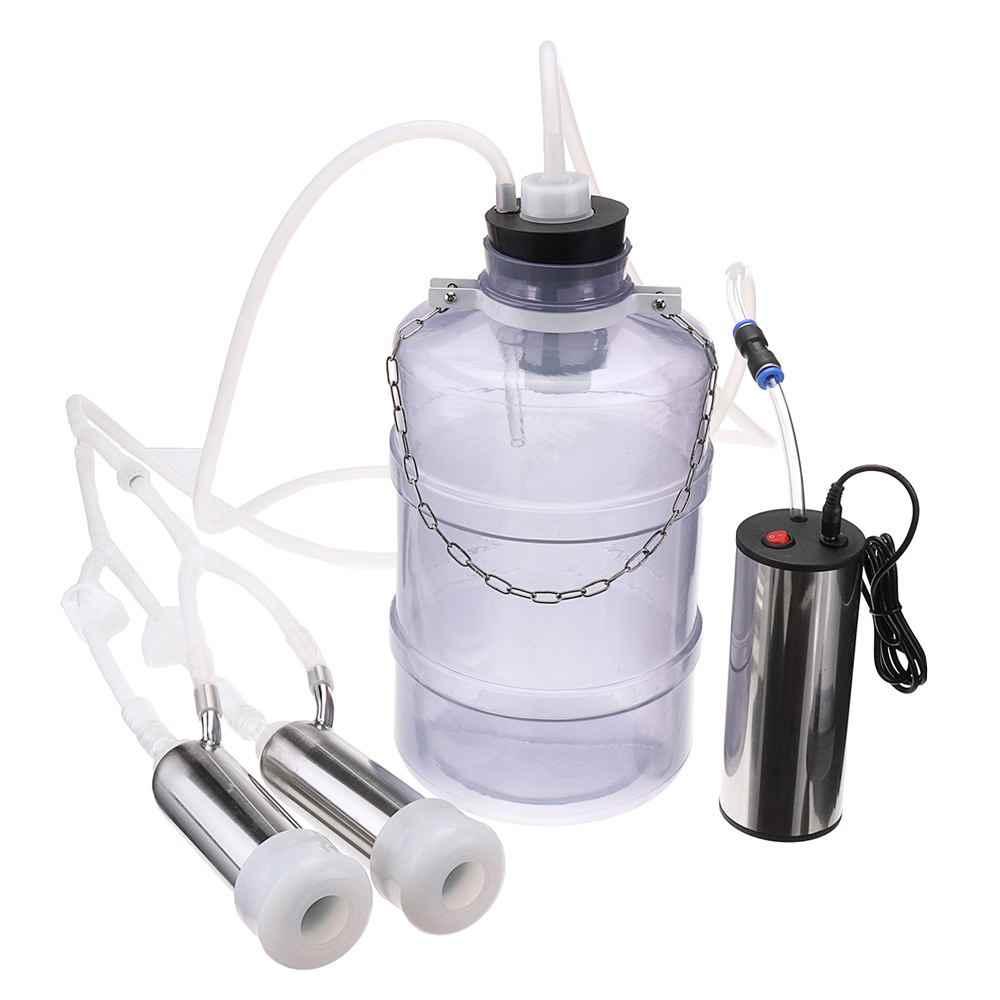 2L/3L/5L 24 ワット電気搾乳機牛ヤギ羊搾乳デュアル真空ポンプバケット食品安全レベルプラスチック搾乳機