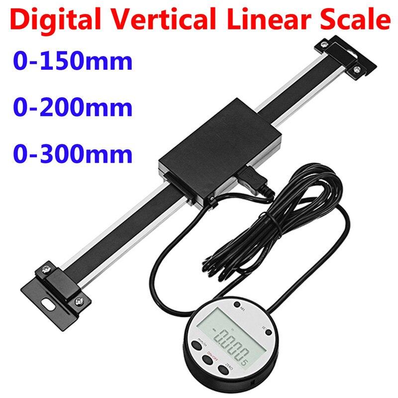 0-150mm/0-200mm/0-300mm échelle linéaire verticale numérique à distance échelle linéaire de lecture numérique pour tours industriels