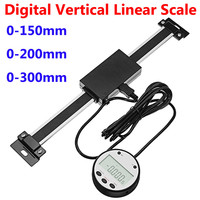 0 150mm/0 200mm/0 300mm Digital Vertical Linear Scale Remote Digital Readout Linear Scale For Industry Lathes