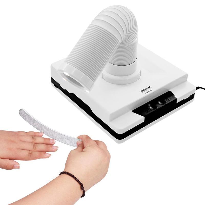 Aspirateur collecteur de poussière d'ongle 60 W pour manucure aspirateur de poussière d'aspiration coude rétractable collecteur de poussière d'ongle équipement d'art d'ongle