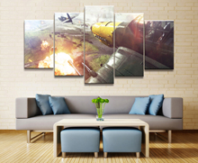 HD Printed Battlefield 5 Game Scenario Painting Piece Canvas Art Print Room Decor Poster Picture Free Shipping