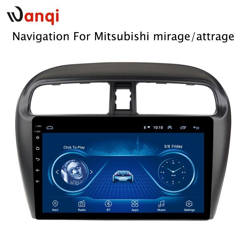 Offre spéciale 9 pouces Android 8.1 lecteur Dvd Gps de voiture pour Mitsubishi mirage attrage 2012-2018 intégré Radio vidéo Navigation Bt Wifi