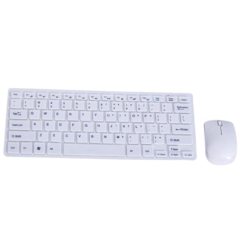 Ultra Slim Thin 2.4GHz Wireless Keyboard Mouse Kit Keyboards Mice Combo With Cover For Desktop Laptop PC Computer Keyboard Set