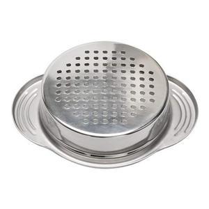2 Упаковка, нержавеющая сталь, фильтр для слива пищевых продуктов, сито для масла, пресс для слива тунца