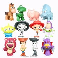 Juguete historia Woody Buzz Lightyear Jessie Mini figuras de acción Rex  lotso pequeños hombres verdes blanco Hamm figuras muñeca. 949a77f50cb