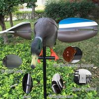 3D Hunting Decoy Duck with Magnet Spinning Wings Remote Control Simulation Duck Electric Rotary Wing Duck Hunting Garden Decor