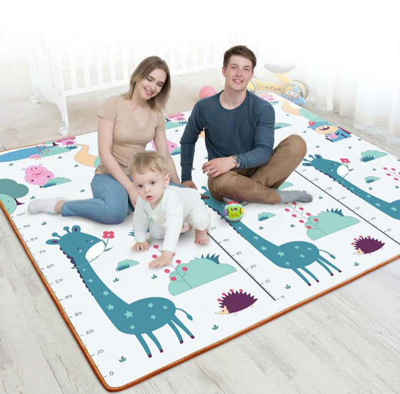 Baby Play Mat 200*180*1cm Crawling Mat Double Surface Kids Carpet Rug Animal Giraffe+whale Developing Mat for Children Game Pad living room rug carpet for kids baby play mat 180 200 2cm children developing rug puzzle thickend foam coral velvet