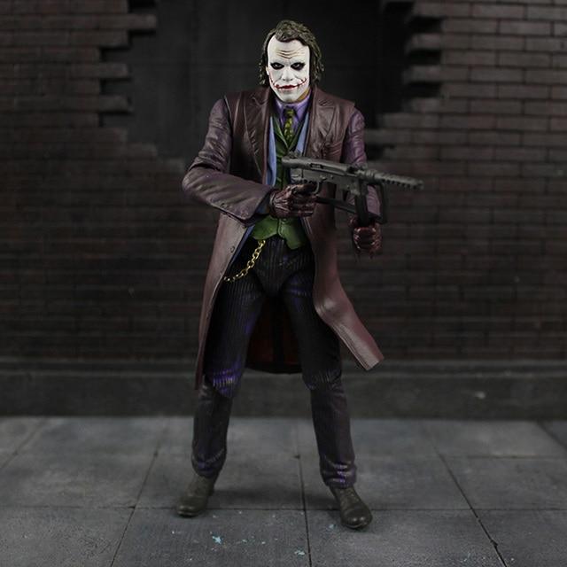 18 centímetros Cosplay Neca Batman Dark Knight Joker Heath Ledger Em Ação Pvc Modelo Figura Brinquedos Para Presentes das Crianças