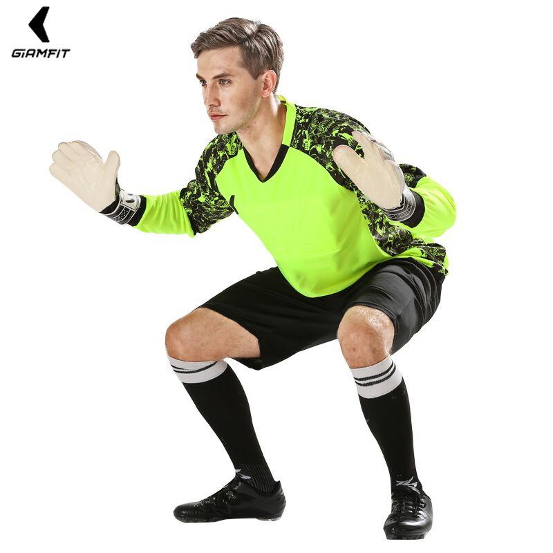Men Goalkeeper Jerseys Soccer Jerseys Professional Football Doorkeepers Training Uniform Sets Sponge Protector Custom Sportswear