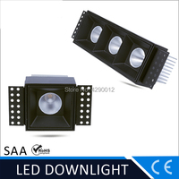 Rectangle trimless 10w 20w 30w COB Led downlights square double head recessed led Ceiling 24degree Spot light 85 265vac