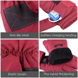Image 5 - Einstellbare Temperatur Thermische Handschuhe Batterie Powered Wiederaufladbare Beheizte Handschuhe Wasserdichte Touch Screen Handschuhe Wärmer Für Frauen