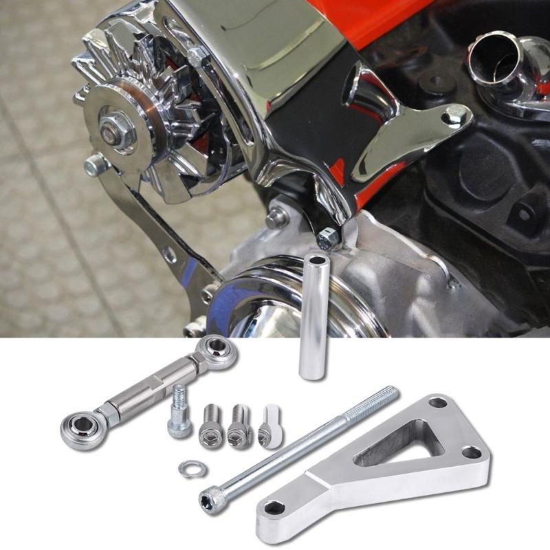 Alternator Bracket Set Polished Aluminum Alternator Bracket Kit Water Pump Lwp Bracket Set for Chevy 350