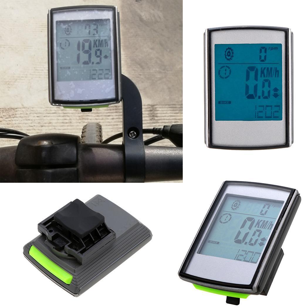 Compteur de vitesse multifonctionnel imperméable portatif Durable d'affichage à cristaux liquides de bicyclette IP65 CR2032 batterie de bouton