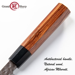 Image 5 - Grandsharp Handgemachte Nakiri Messer 3 Schichten Japanischen AUS10 Edelstahl ECO Freundliche Chef Kochen Küche Werkzeuge Gemüse Slic