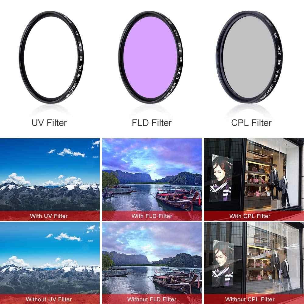 49 Mm 52 Mm 55 Mm 58 Mm 62 Mm 67 Mm 72 Mm 77 Mm UV + CPL + field 3 In 1 Lensa Filter Set dengan Tas untuk Sony Meriam untuk Nikon Pentax Lensa Kamera