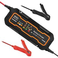 6V/12V 5A Pulse Repair Charger Motorcycle & Car Smart Battery Charger AGM GEL WET Lead Acid Battery Charger